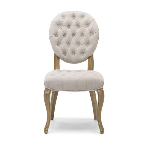 Chantilly Dining Chair Natural Fabric with Solid Walnut Legs-Dining Chairs-shankar-GoFurn Furniture Store Kent