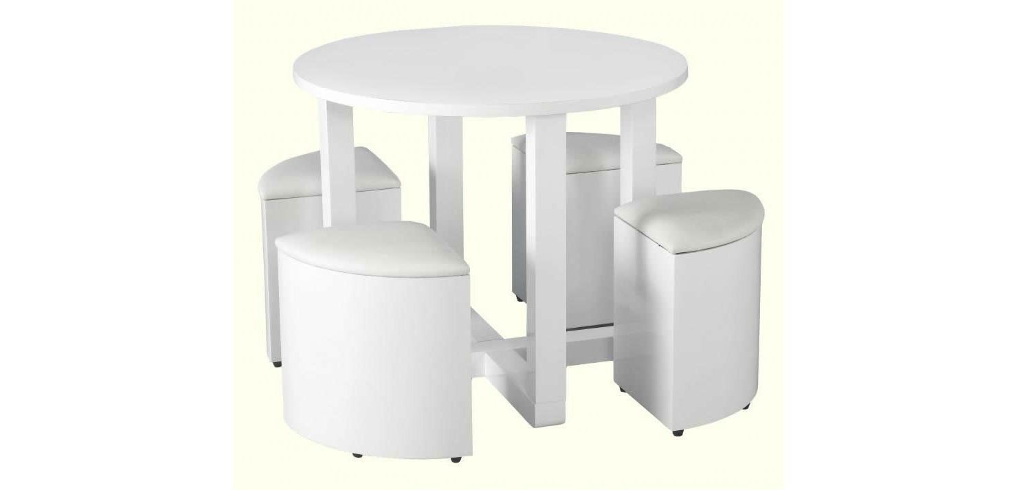 Charisma White Stowaway Dining Set-Small white Dining Sets-Seconique-GoFurn Furniture Store Kent