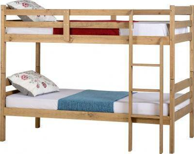 Panama Bunk Bed in Distressed Waxed Pine-childrens bunk Beds-Seconique-GoFurn Furniture Store Kent