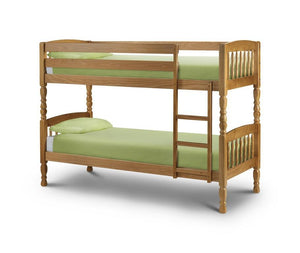 Chunky Lincoln Antique Pine Bunk Bed-pine Bunk Beds-Julian Bowen-GoFurn Furniture Store Kent