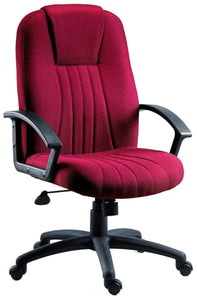 City Executive Office Chair in Burgundy-executive office managers chair fabric-teknik-GoFurn Furniture Store Kent