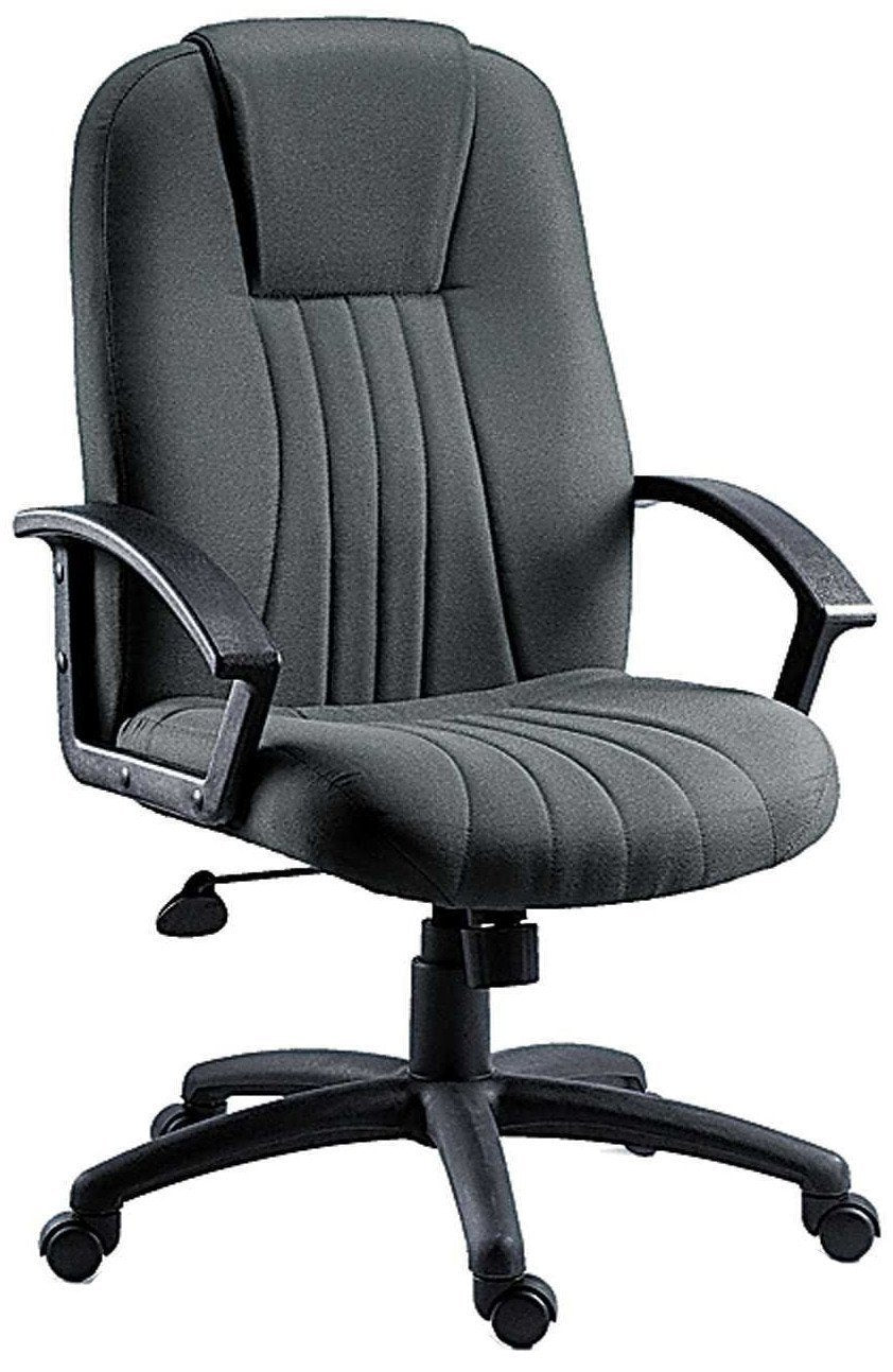 City Executive Office Chair in Grey Fabric-executive office managers chair grey fabric-teknik-GoFurn Furniture Store Kent