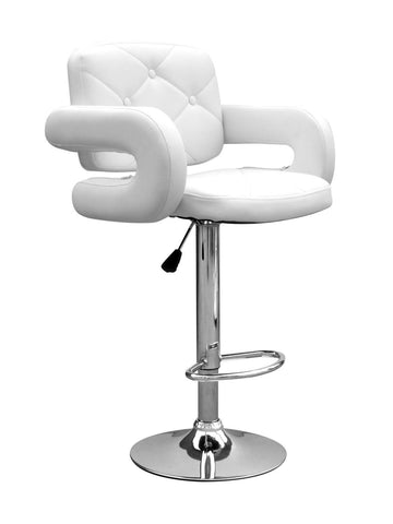 Colby Bar Stool White Leather-kitchen breakfast Bar Stools-shankar-GoFurn Furniture Store Kent