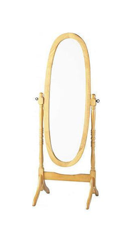 Contessa Cheval Pine or All White Mirror-Mirrors-Seconique-Pine-GoFurn Furniture Store Kent