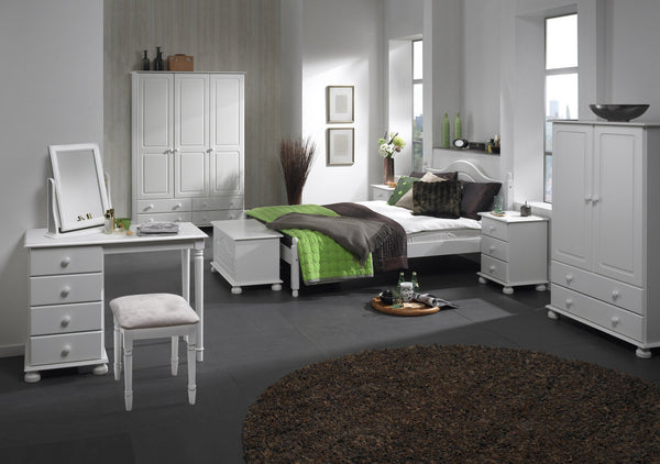 Copenhagen White Double or Single Bed From:-white Beds-furniture to go-GoFurn Furniture Store Kent