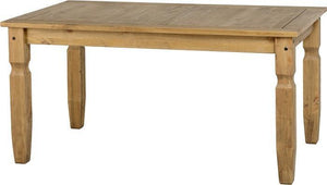 Corona Dining Table Pine 5ft-corona distressed pine dining table-Seconique-GoFurn Furniture Store Kent