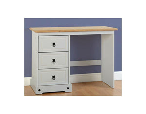 Corona Grey/Distressed Waxed Pine Dressing Table-dressing tables-Seconique-GoFurn Furniture Store Kent