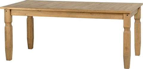 Corona Large Dining Table Pine-large distressed pine corona dining table-seconique-GoFurn Furniture Store Kent