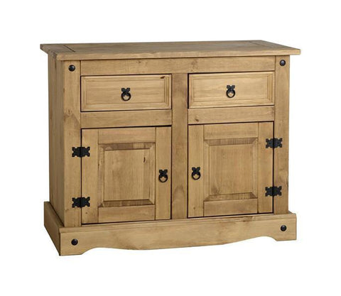 Corona Pine 2 Door 2 Drawer Sideboard-Pine Sideboards-Seconique-GoFurn Furniture Store Kent