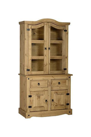 Corona Pine 3' Buffet Hutch Sideboard-Pine Dresser Buffet Hutch-Seconique-GoFurn Furniture Store Kent