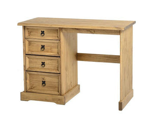 Corona Pine 4 Drawer Dressing Table-Dressing Tables-Seconique-GoFurn Furniture Store Kent