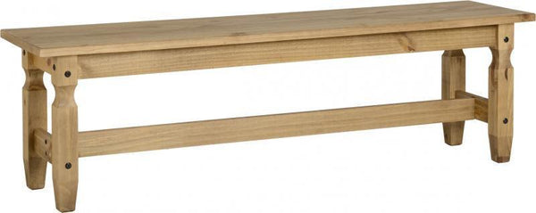 Corona Pine 5 Foot Bench-corona pine dining benches-Seconique-GoFurn Furniture Store Kent