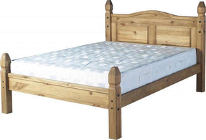 Corona Pine Bed Single Double or King Size From-Corona Pine Bed-Seconique-GoFurn Furniture Store Kent