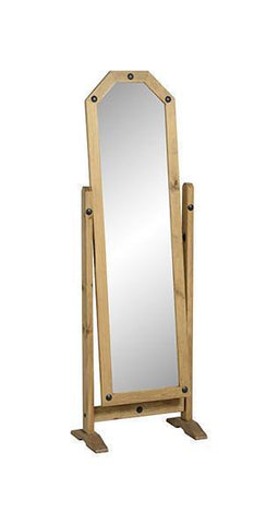 Corona Pine Cheval Mirror-Mirrors-Seconique-GoFurn Furniture Store Kent