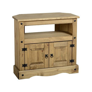 Corona Mexican Pine Corner TV Unit at GoFurn in Kent