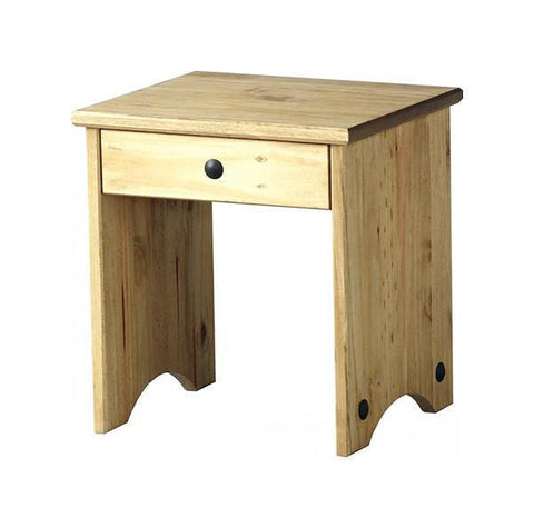 Corona Pine Dressing Table Stool-Dressing Tables-Seconique-GoFurn Furniture Store Kent