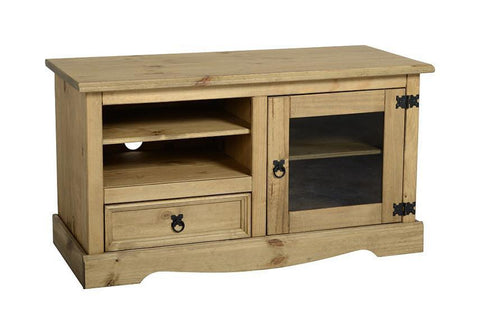 Corona Pine Entertainment TV Unit-TV Units-Seconique-GoFurn Furniture Store Kent