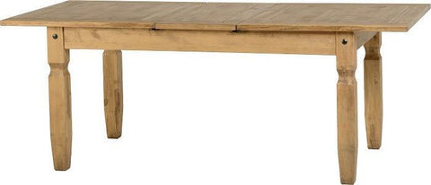 Corona Pine Extending Dining Table-corona pine extending dining table-seconique-GoFurn Furniture Store Kent