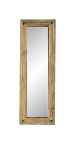 Corona Pine Long Wall Mirror-Mirrors-Seconique-GoFurn Furniture Store Kent