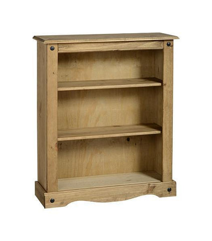 Corona Pine Low Bookcase-pine low Bookcases-Seconique-GoFurn Furniture Store Kent