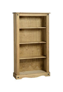Corona Pine Medium Bookcase-Bookcases-Seconique-GoFurn Furniture Store Kent
