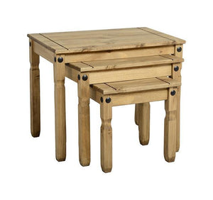Corona Pine Nest Of Tables-Corona Nest of Tables-Seconique-GoFurn Furniture Store Kent