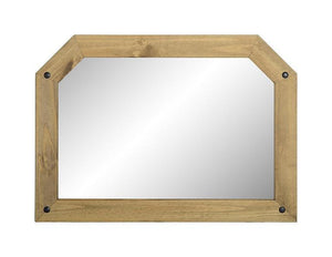Corona Pine Over Mantel Mirror-Mirrors-Seconique-GoFurn Furniture Store Kent