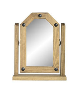 Corona Pine Single Mirror-Mirrors-Seconique-GoFurn Furniture Store Kent