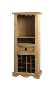 Corona Pine Wine Rack-Cabinets-Seconique-GoFurn Furniture Store Kent