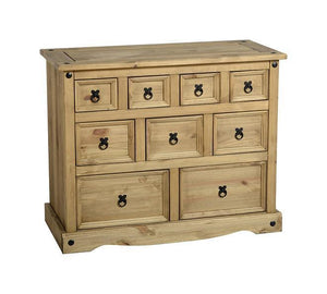 Corona Solid Pine 4+3+2 Drawer Sideboard-Merchants Chest Sideboards-Seconique-GoFurn Furniture Store Kent