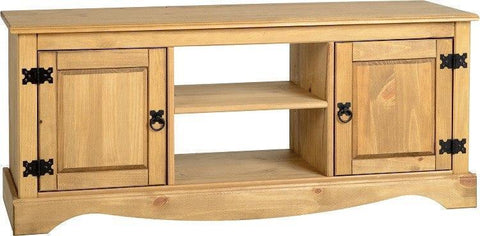 Corona Pine 2 Door 1 Shelf Flat Screen TV Unit-corona TV unit-Seconique-GoFurn Furniture Store Kent