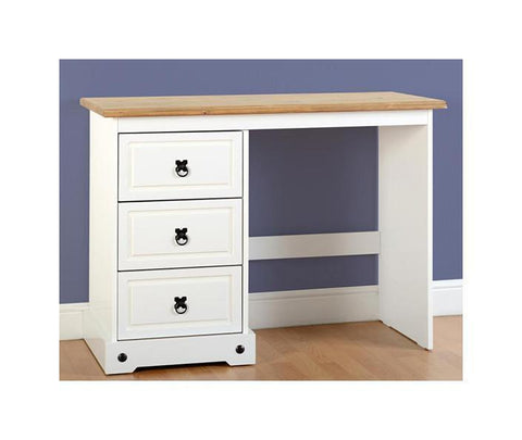 Corona White/Distressed Dressing Table-Dressing Tables-Seconique-GoFurn Furniture Store Kent
