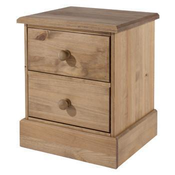 Cotswold Pine 2 Drawer Bedside Cabinet-Pine Bedside Table Cabinet-core products-GoFurn Furniture Store Kent