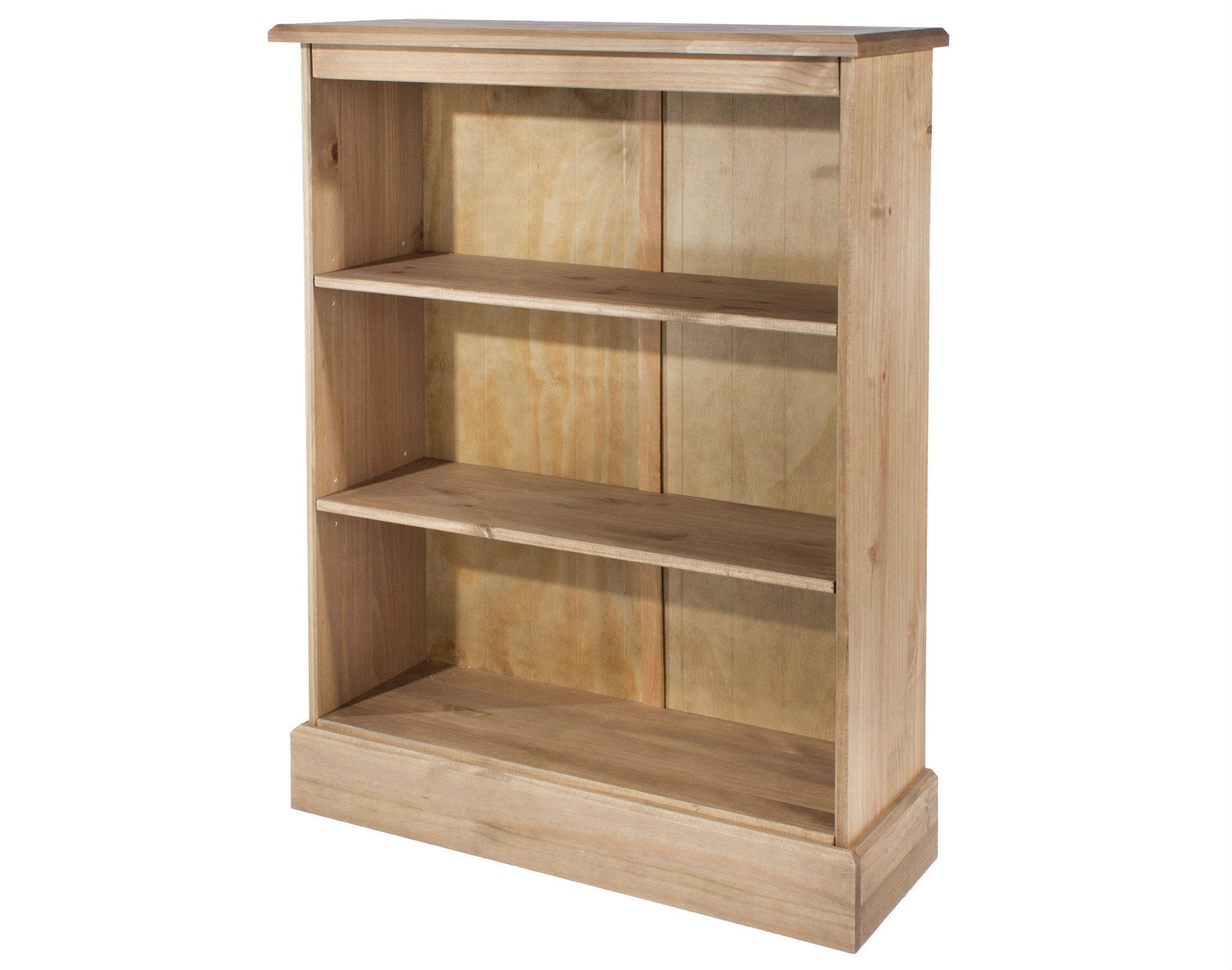 Cotswold Pine Low Bookcase-pine low Bookcases-core products-GoFurn Furniture Store Kent