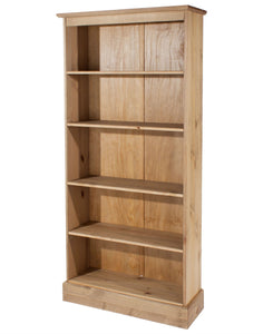 Cotswold Pine Tall Bookcase-pine tall Bookcase-core products-GoFurn Furniture Store Kent