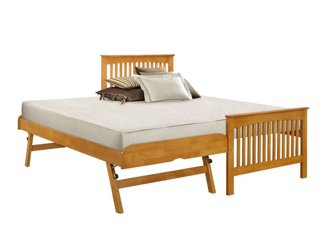 Courtdale Guest Bed Oak Stowaway 2 in 1-guest bed stowaway trundle bed-GoFurn-GoFurn Furniture Store Kent