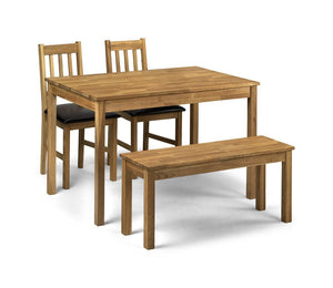 Coxmoor Dining Set with 2 Chairs and a Bench-Dining Sets-Julian Bowen-GoFurn Furniture Store Kent