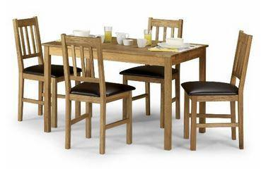 Coxmoor Solid Oak Dining Set with 4 Chairs-Dining Sets-Julian Bowen-GoFurn Furniture Store Kent