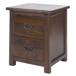 Nepal Dark Wood Bedside Cabinet-dark wood bedside-core products-GoFurn Furniture Store Kent