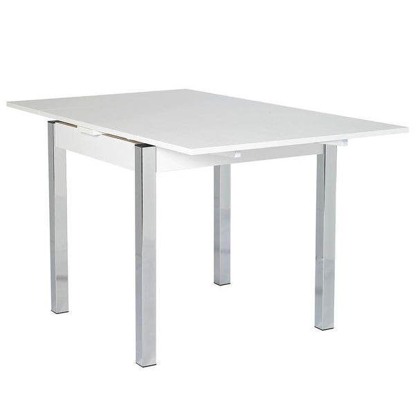 Debecke Extending Dining Table White Gloss-white gloss extending dining table-furniture to go-GoFurn Furniture Store Kent
