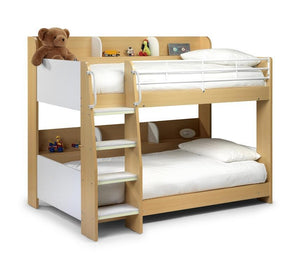 Domino Maple and White Finish Bunk Bed-Childrens Bunk Beds-Julian Bowen-GoFurn Furniture Store Kent