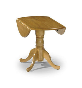 Dundee Dining Table Drop Leaf Honey Pine-drop leaf pine butterfly dining table-julian bowen-GoFurn Furniture Store Kent