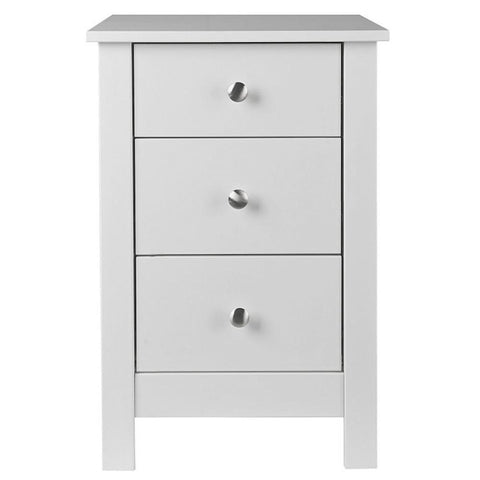 Florence White 3 Drawer Bedside Cabinet-white bedside cabinet-furniture to go-GoFurn Furniture Store Kent