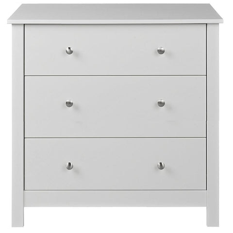 Florence White 3 Drawer Chest of Drawers-White Chest of Drawers-furniture to go-GoFurn Furniture Store Kent
