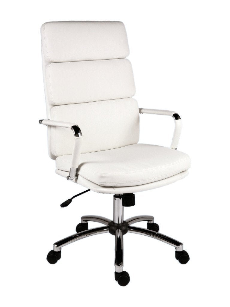 Florence White Executive Office Chair-white executive office chair high back-teknik-GoFurn Furniture Store Kent