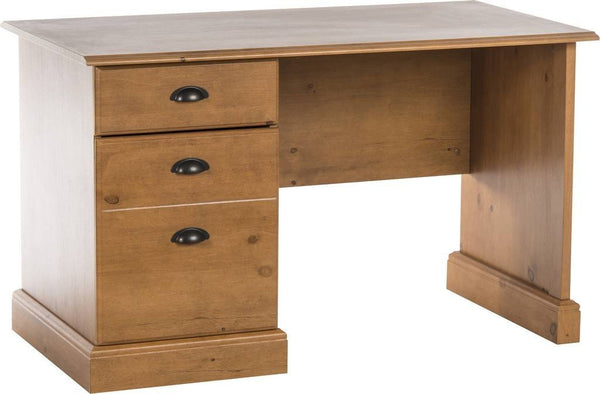 French Gardens Home Office Desk Pine Style Compact-pine home ofice desk-teknik-GoFurn Furniture Store Kent