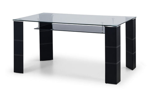 Greenwich Glass Dining Table-glass dining table-Julian Bowen-GoFurn Furniture Store Kent