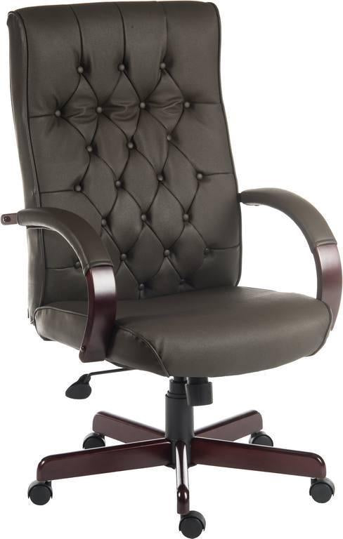 Harvey Executive Office Chair in Brown-leather executive office chair in brown-teknik-GoFurn Furniture Store Kent
