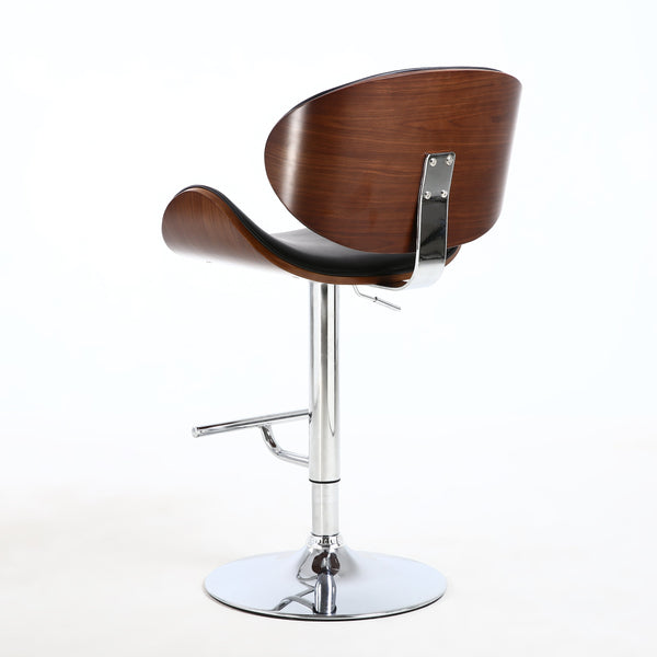 Havana Walnut and Black Bar Stool-kitchen breakfast Bar Stools-shankar-GoFurn Furniture Store Kent