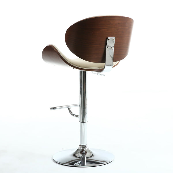 Havana Walnut Cream Bar Stool-kitchen breakfast Bar Stools-shankar-GoFurn Furniture Store Kent